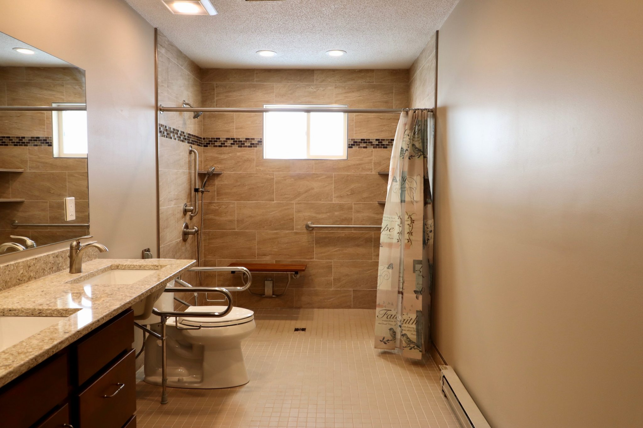 Easy Accessibility With A Roll In Shower Homeaccessremodeling Com